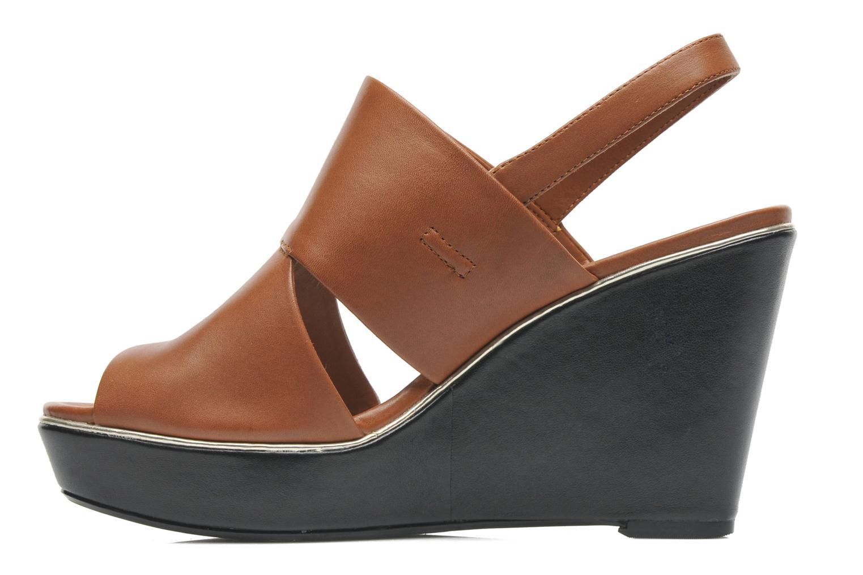 Sandales et nu-pieds Clarks Scent Whisp Marron vue face