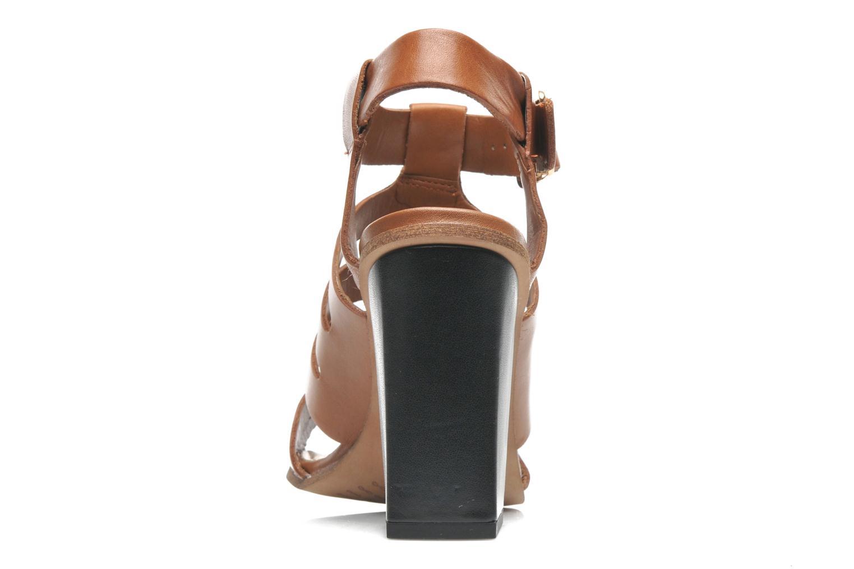 Sandales et nu-pieds Clarks Ski Tropical Marron vue droite