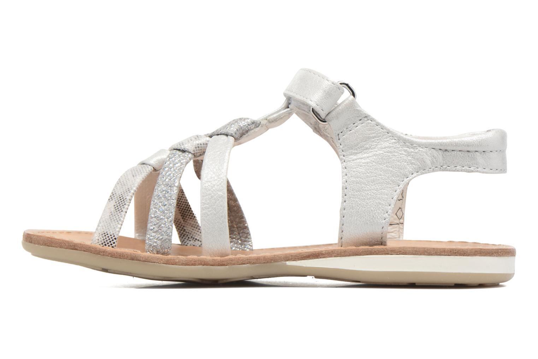 Sandales et nu-pieds Noël Strass Argent vue face