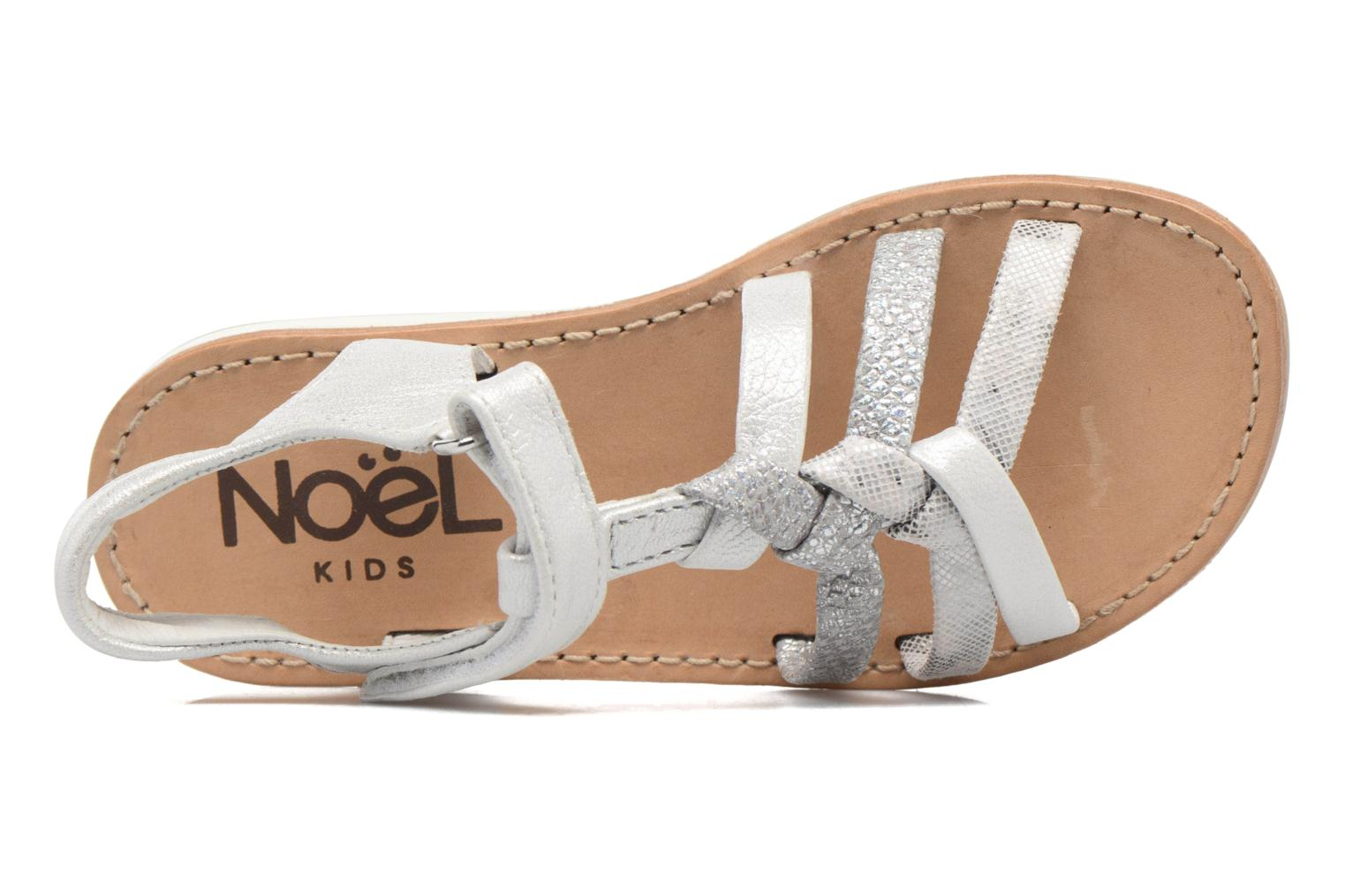 Sandals Noël Strass Silver view from the left