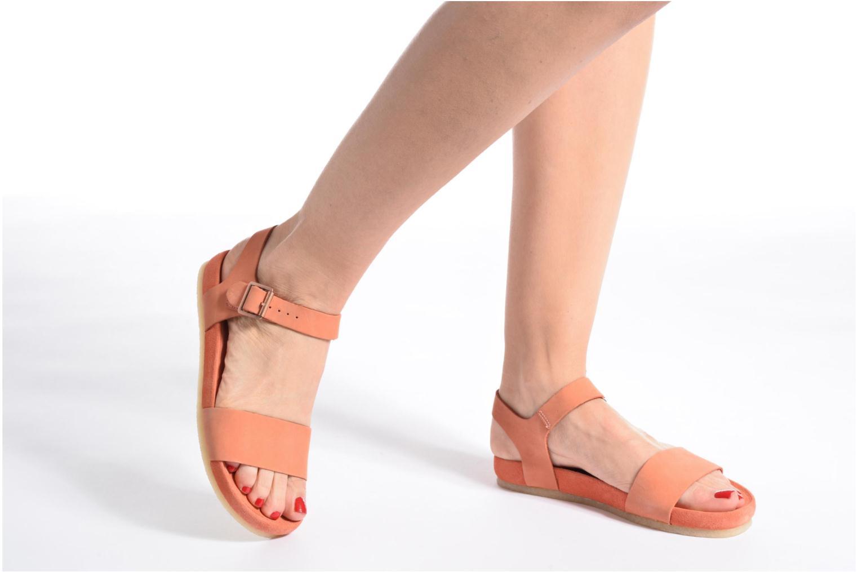 Sandales et nu-pieds Clarks Originals Dusty Soul Noir vue bas / vue portée sac