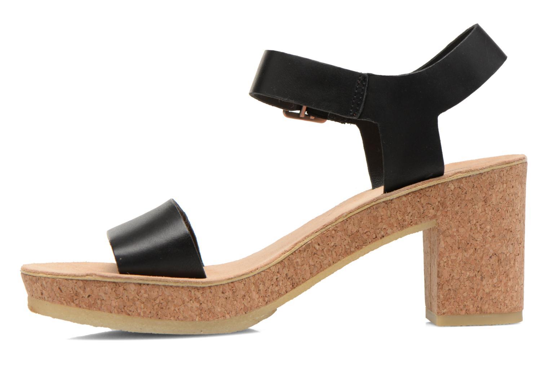 Sandales et nu-pieds Clarks Originals Jayda Parade Noir vue face
