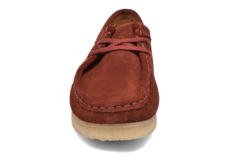 Chaussures à lacets Clarks Originals Wallabee W Bordeaux vue portées chaussures