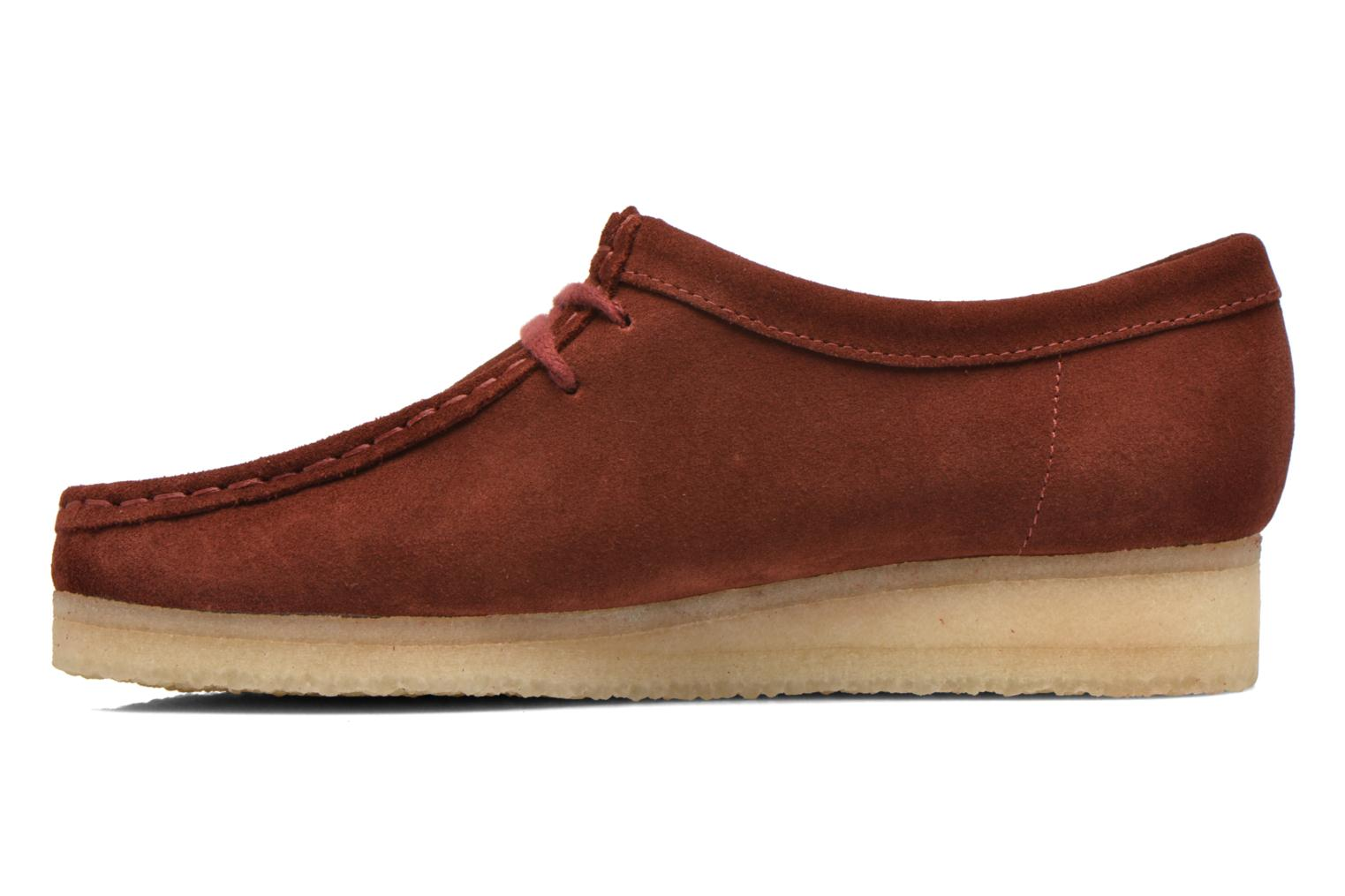 Lace-up shoes Clarks Originals Wallabee W Burgundy front view