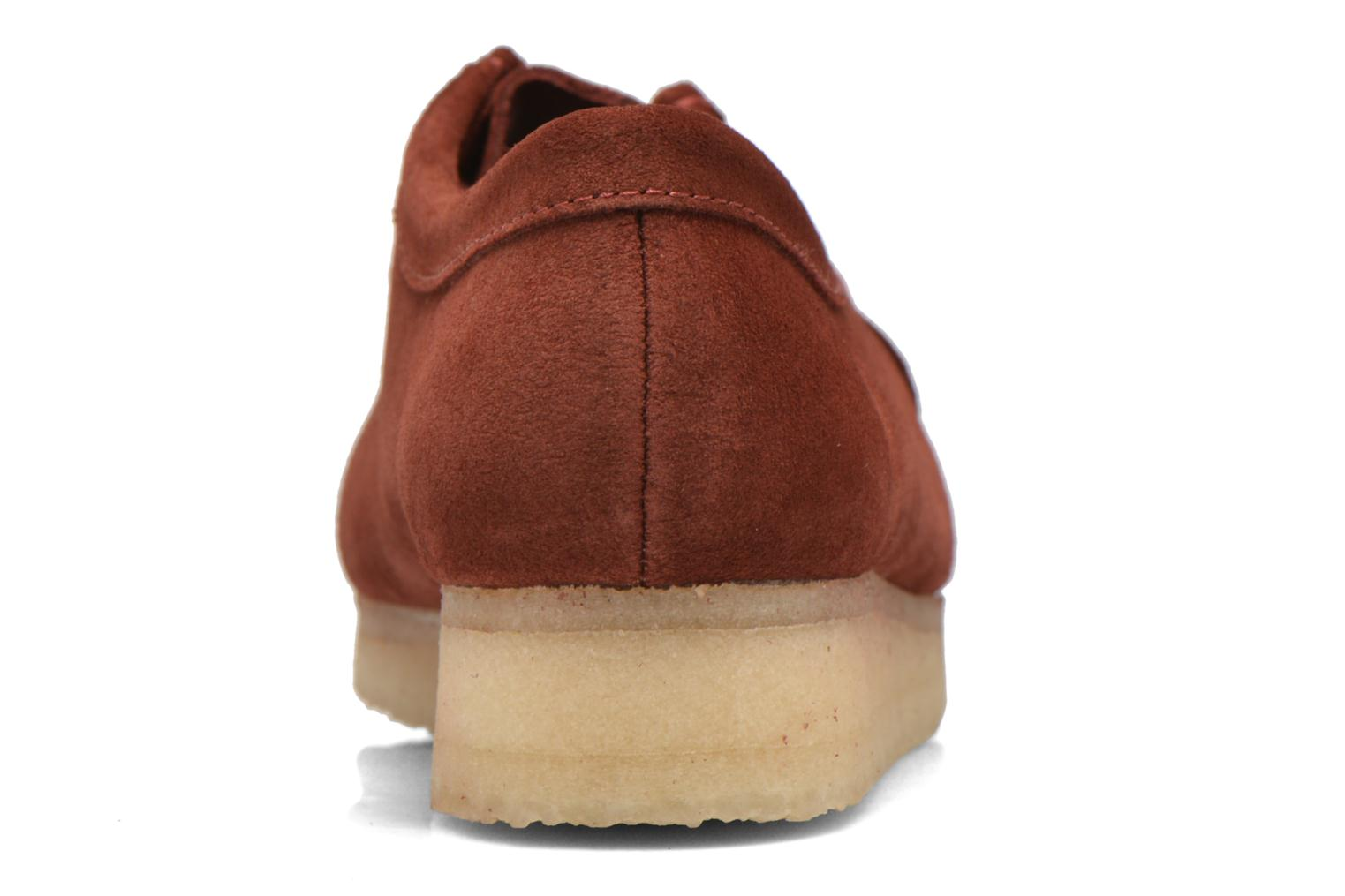 Lace-up shoes Clarks Originals Wallabee W Burgundy view from the right