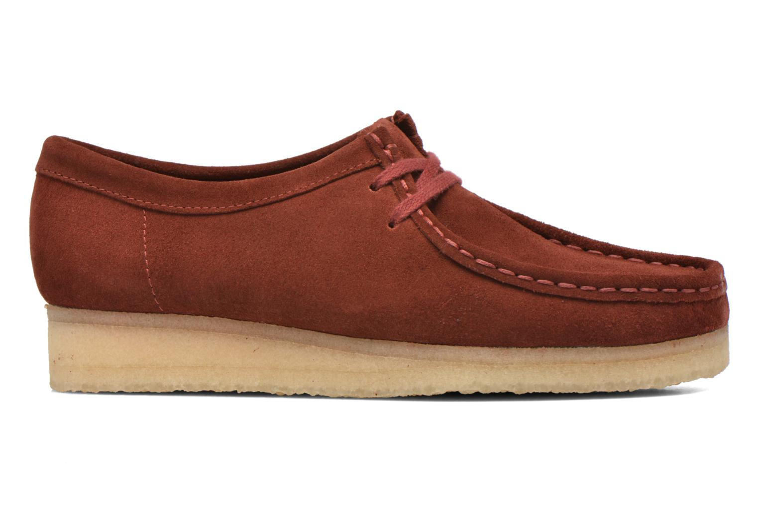 Lace-up shoes Clarks Originals Wallabee W Burgundy back view