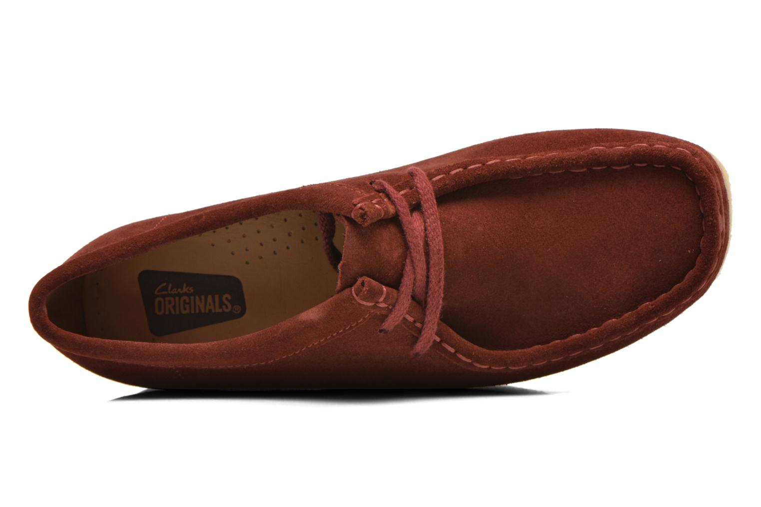 Lace-up shoes Clarks Originals Wallabee W Burgundy view from the left