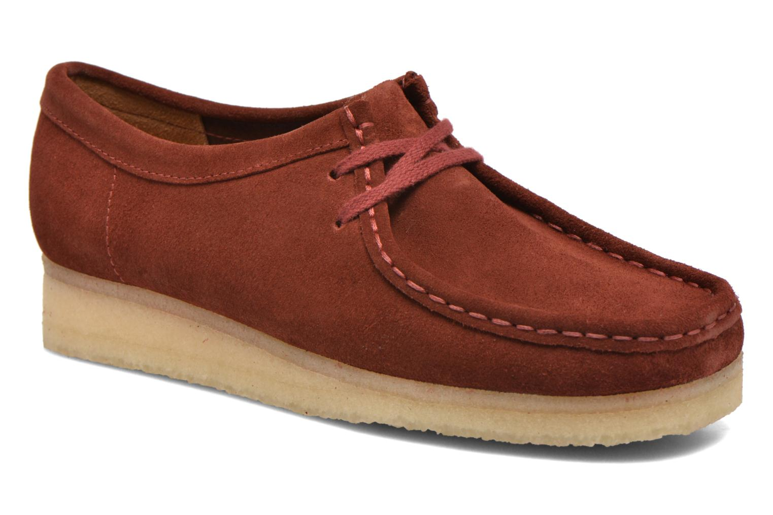 Lace-up shoes Clarks Originals Wallabee W Burgundy detailed view/ Pair view