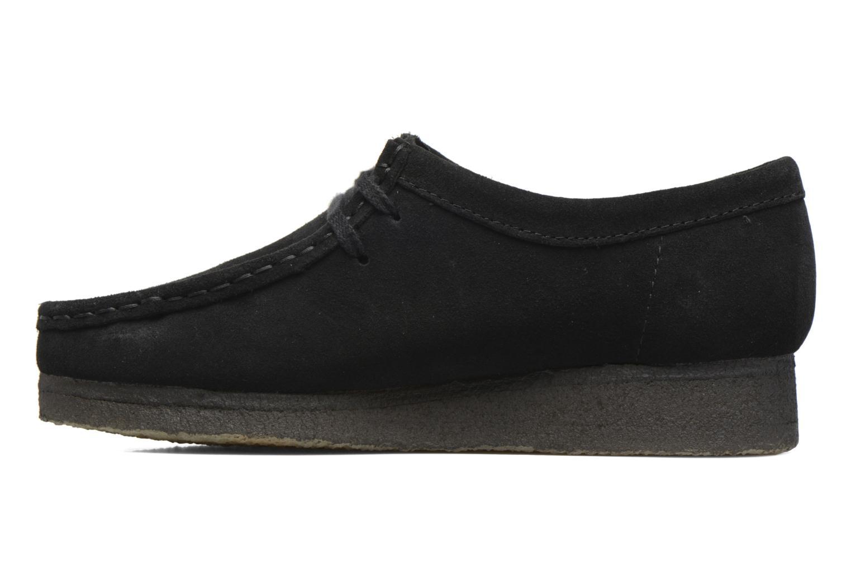 Chaussures à lacets Clarks Originals Wallabee W Noir vue face