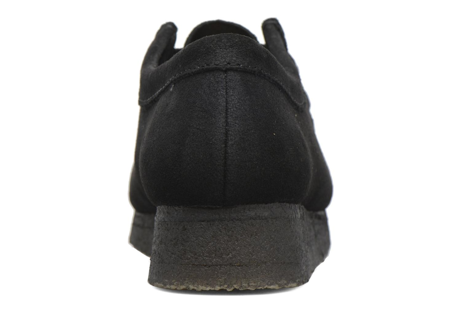 Lace-up shoes Clarks Originals Wallabee W Black view from the right