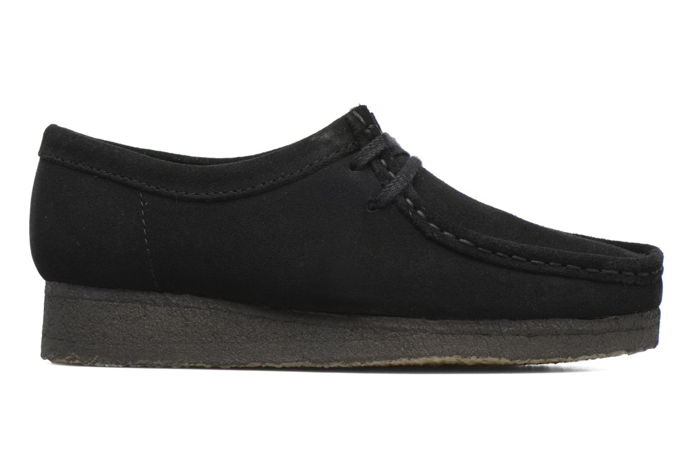 Lace-up shoes Clarks Originals Wallabee W Black back view