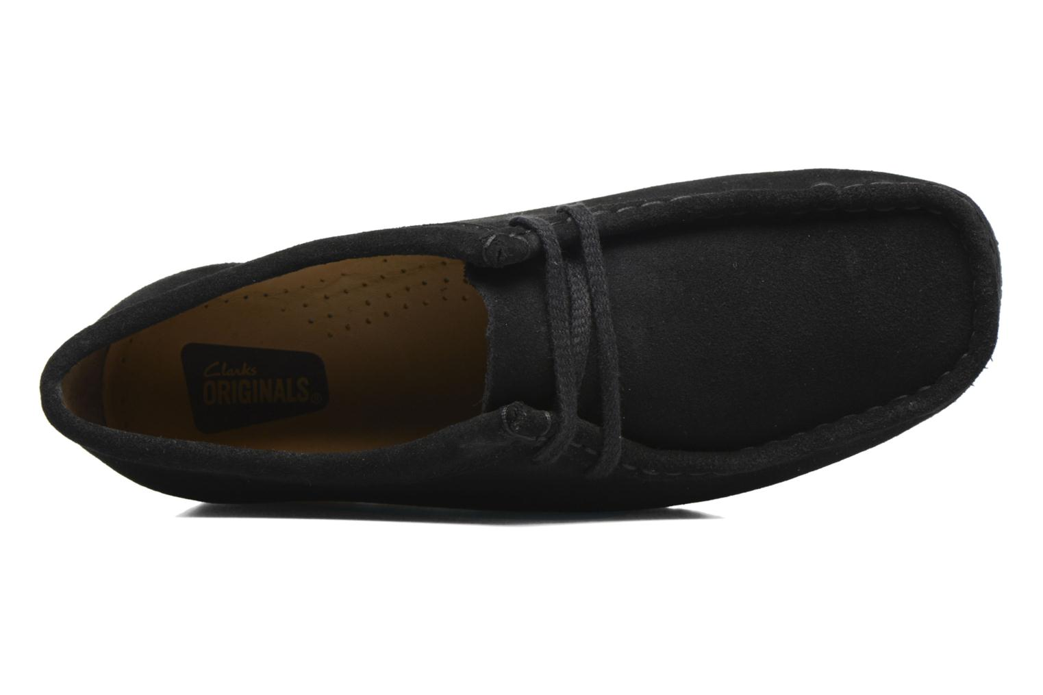 Lace-up shoes Clarks Originals Wallabee W Black view from the left