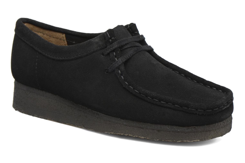 Schnürschuhe Clarks Originals Wallabee W schwarz detaillierte ansicht/modell
