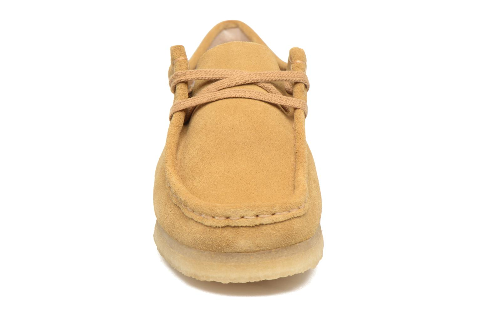 Veterschoenen Clarks Originals Wallabee W Beige model