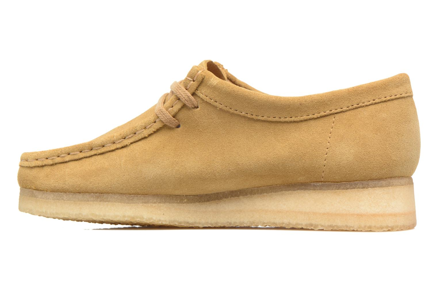 Chaussures à lacets Clarks Originals Wallabee W Beige vue face