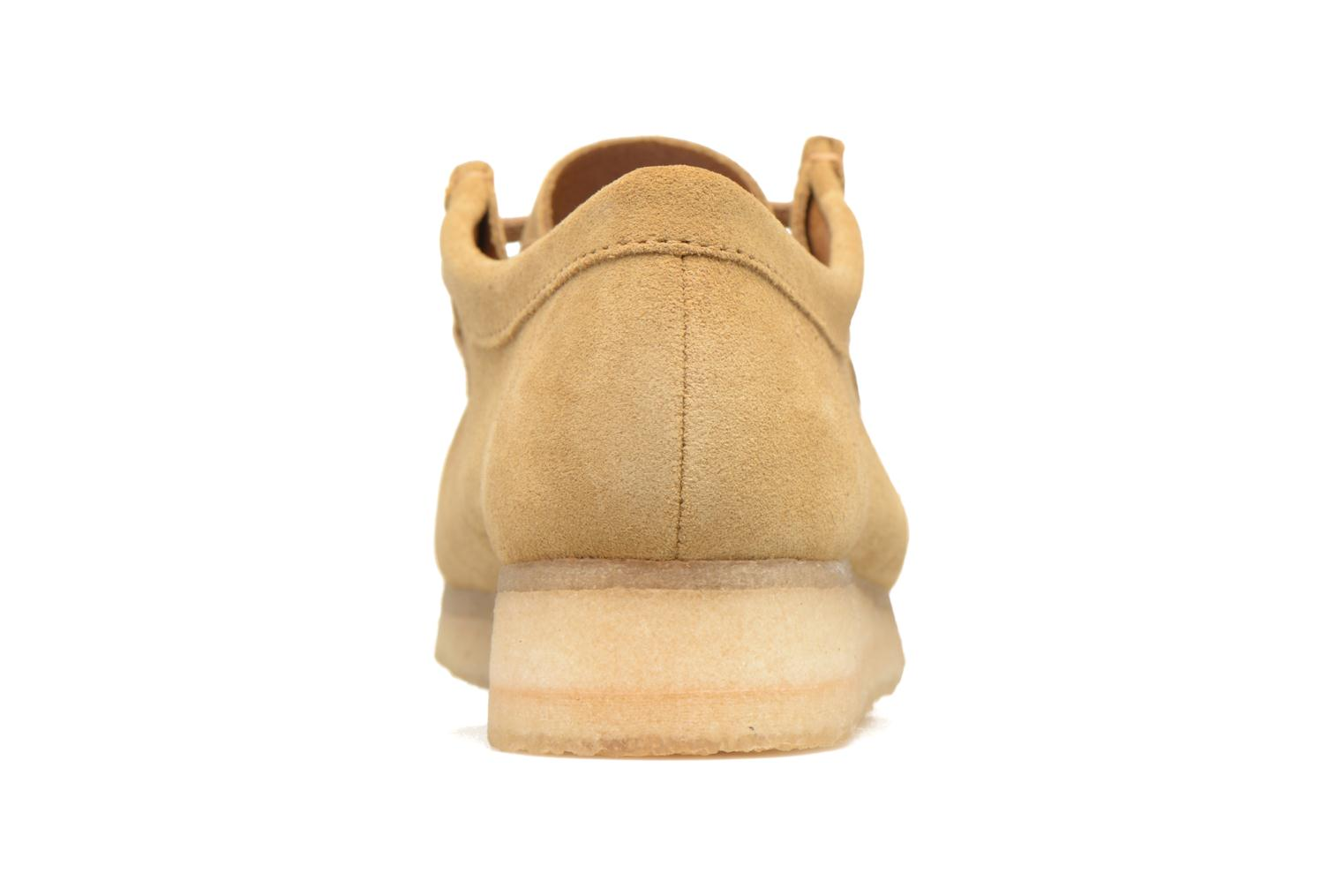 Lace-up shoes Clarks Originals Wallabee W Beige view from the right