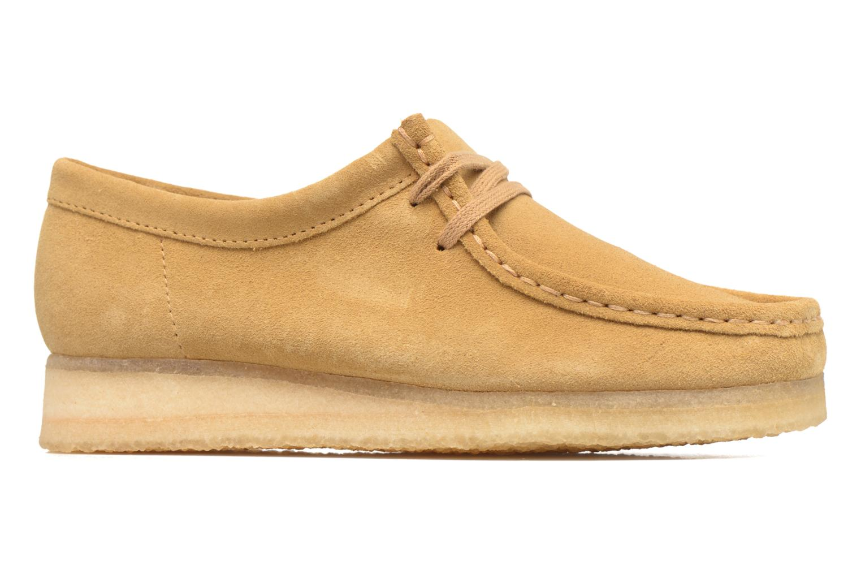 Snörade skor Clarks Originals Wallabee W Beige bild från baksidan