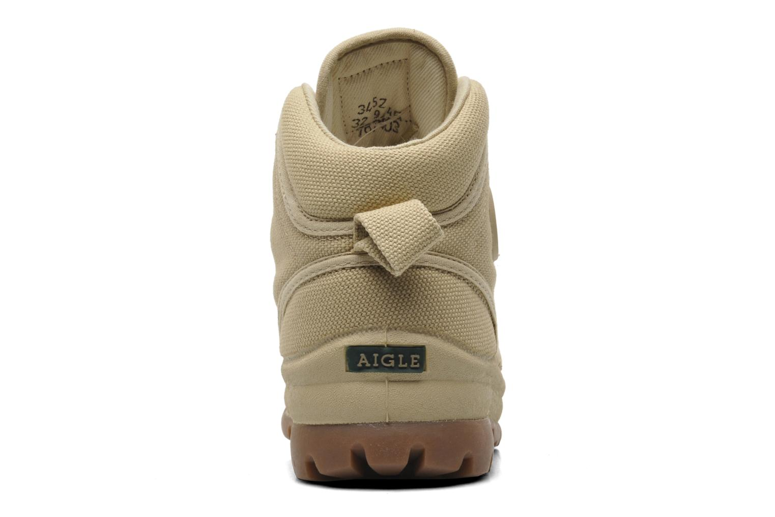 Trainers Aigle TENERE KID Beige view from the right