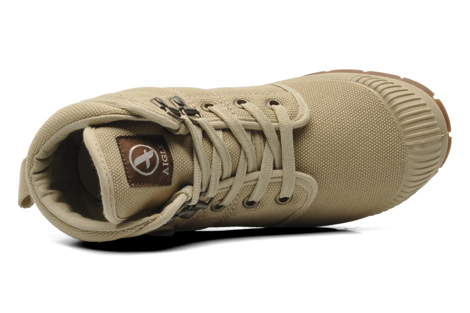 Trainers Aigle TENERE KID Beige view from the left