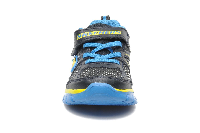 Baskets Skechers Synergy Mini Dash Bleu vue portées chaussures