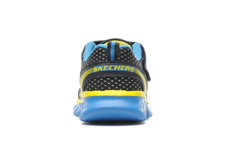 Baskets Skechers Synergy Mini Dash Bleu vue droite