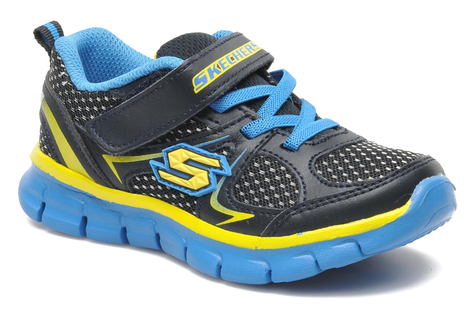 Trainers Skechers Synergy Mini Dash Blue detailed view/ Pair view