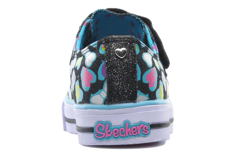 Baskets Skechers Shuffles Jumpin Hearts Multicolore vue droite