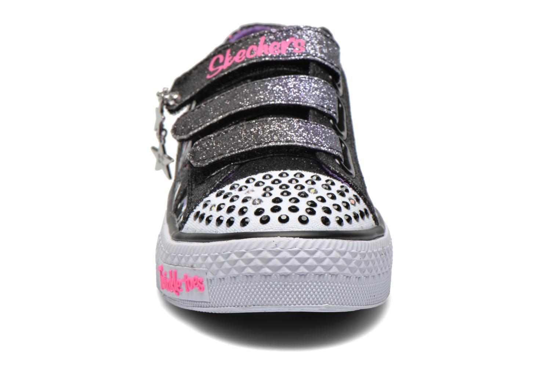 Baskets Skechers Shuffles Glitter N Glitz Noir vue portées chaussures