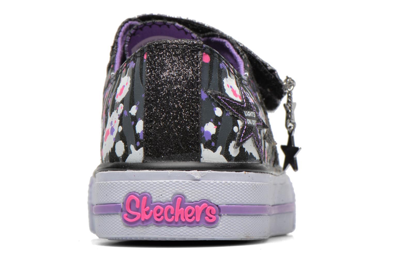 Baskets Skechers Shuffles Glitter N Glitz Noir vue droite