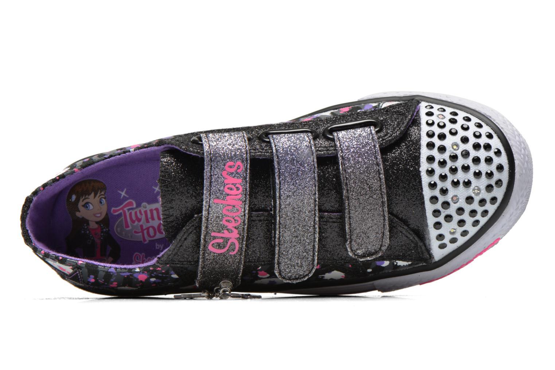 Baskets Skechers Shuffles Glitter N Glitz Noir vue gauche