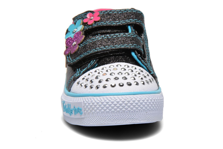Sneaker Skechers Shuffles Pretty Blossoms schwarz schuhe getragen