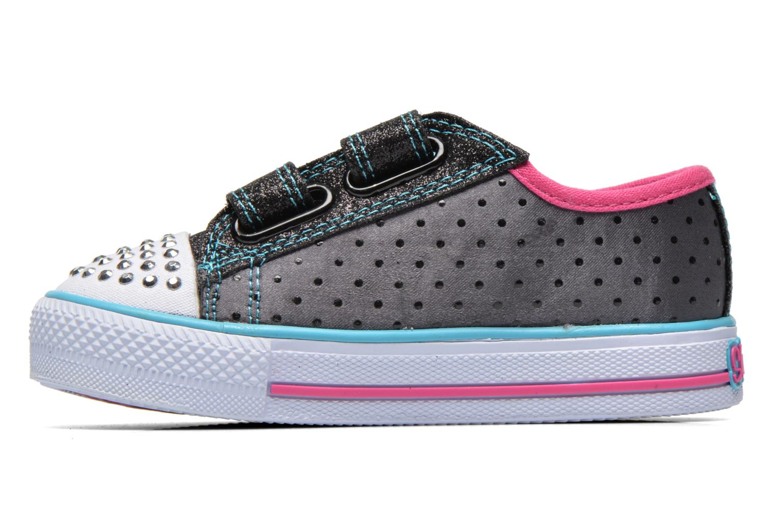 Baskets Skechers Shuffles Pretty Blossoms Noir vue face