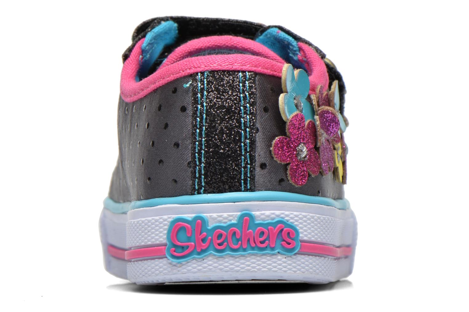Trainers Skechers Shuffles Pretty Blossoms Black view from the right