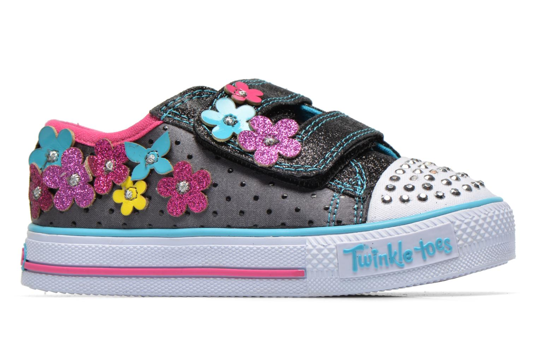 Sneaker Skechers Shuffles Pretty Blossoms schwarz ansicht von hinten
