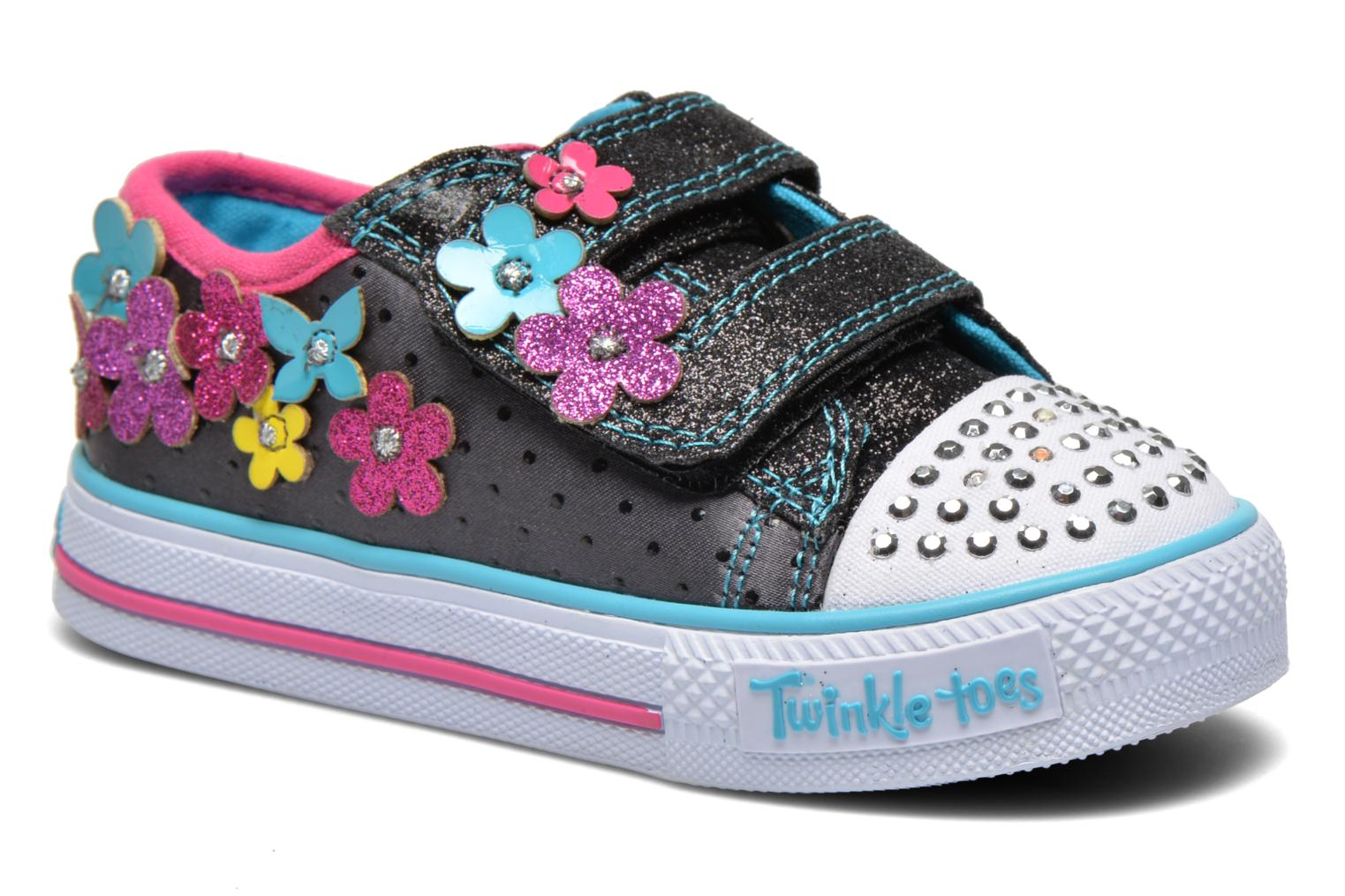 Trainers Skechers Shuffles Pretty Blossoms Black detailed view/ Pair view