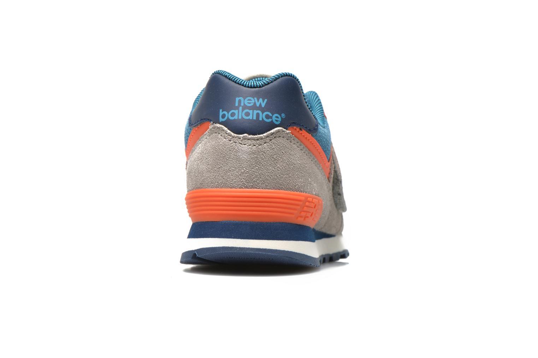 Sneaker New Balance KV574OCY grau ansicht von rechts