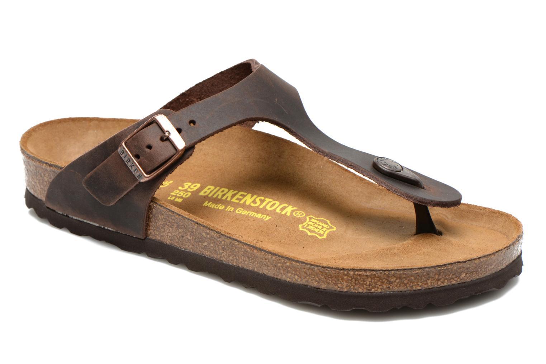 Zapatos de hombres y mujeres de Cuir moda casual Birkenstock Gizeh Cuir de W (Marrón) - Zuecos en Más cómodo 904c4e