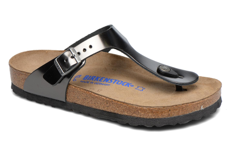 Zapatos de hombres y mujeres de moda casual Birkenstock Gizeh Cuir W (Gris) - Zuecos en Más cómodo