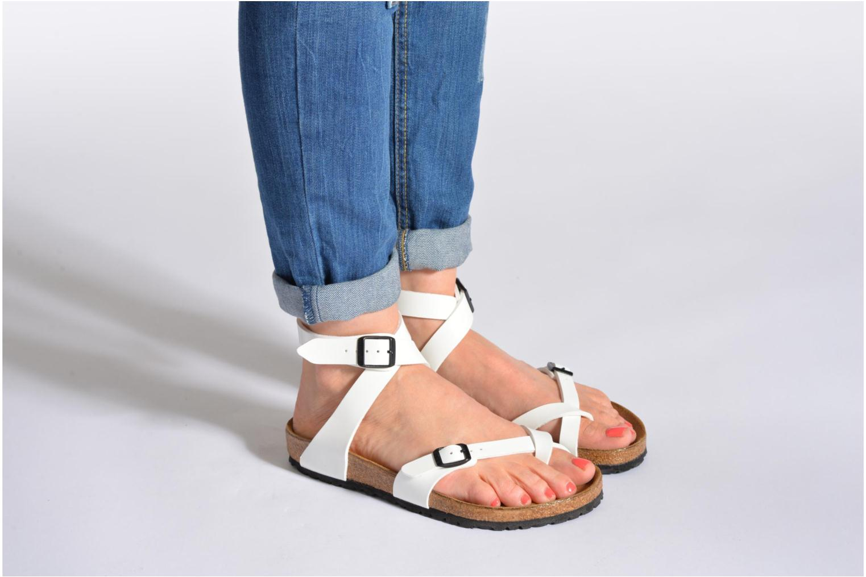 Sandales et nu-pieds Birkenstock Yara Flor W Noir vue bas / vue portée sac