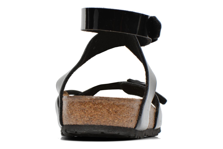 Sandales et nu-pieds Birkenstock Yara Flor W Noir vue droite