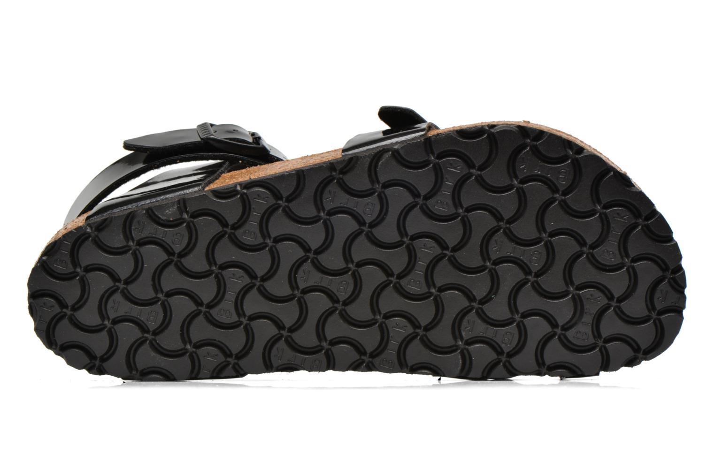 Sandales et nu-pieds Birkenstock Yara Flor W Noir vue haut