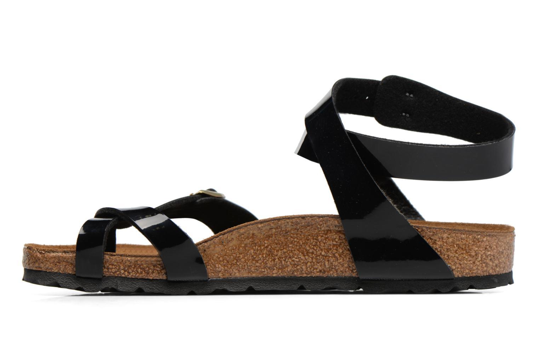 Sandales et nu-pieds Birkenstock Yara Flor W Noir vue face