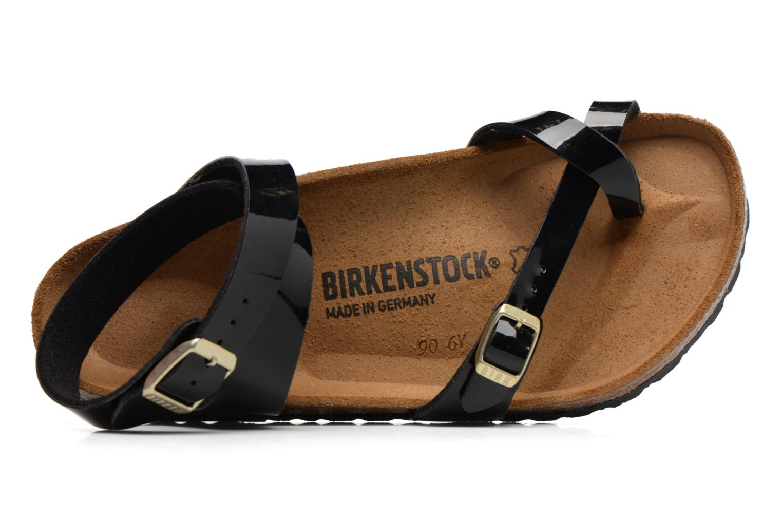 Sandals Birkenstock Yara Flor W Black view from the left