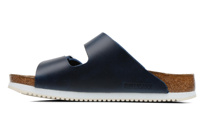 Sandales et nu-pieds Birkenstock Arizona Sl M Bleu vue face