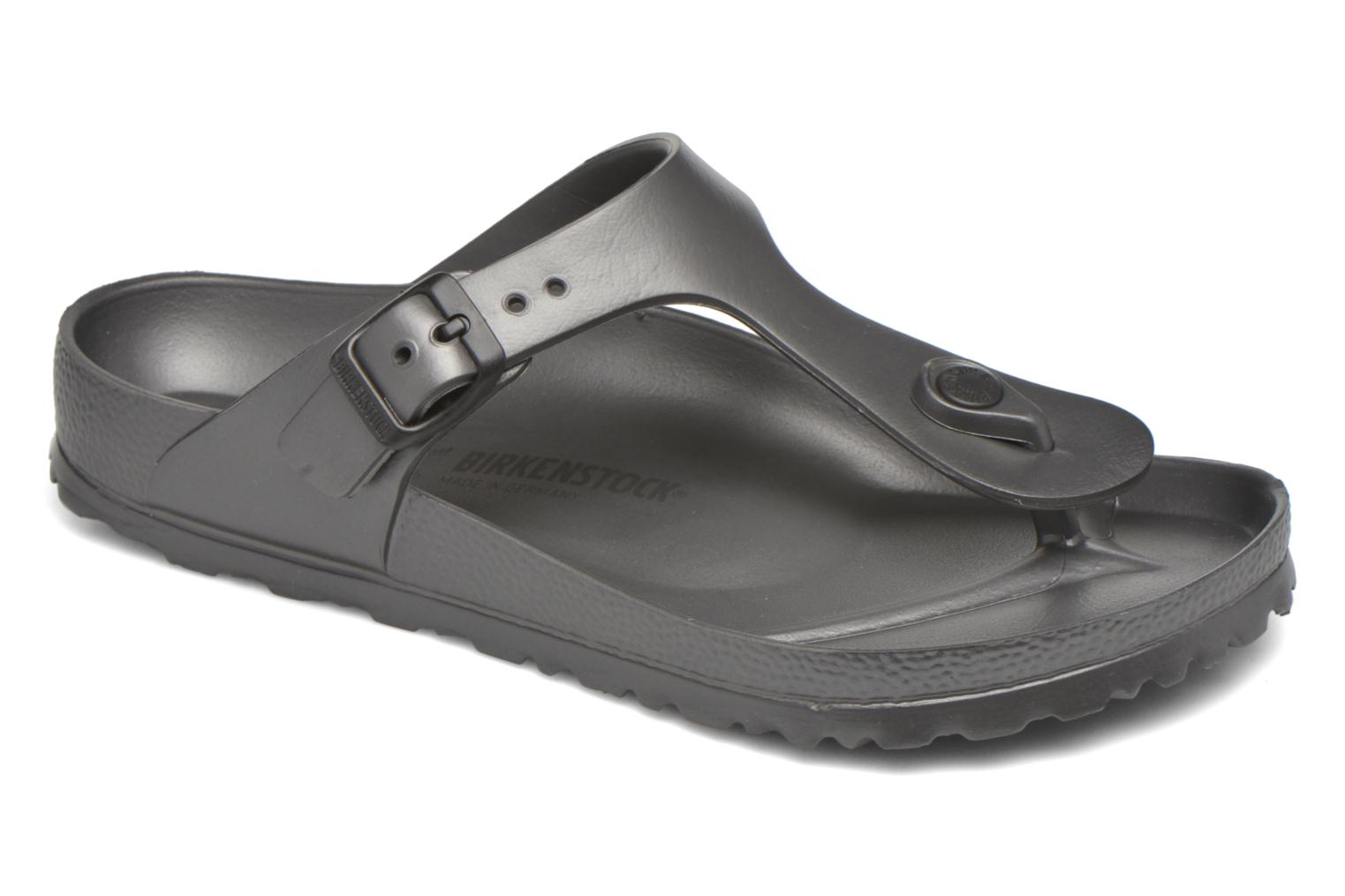 Sandals Birkenstock Gizeh EVA W Grey detailed view/ Pair view
