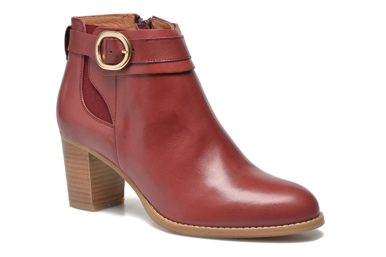 Bottines et boots Georgia Rose Eperdrix Bordeaux vue détail/paire