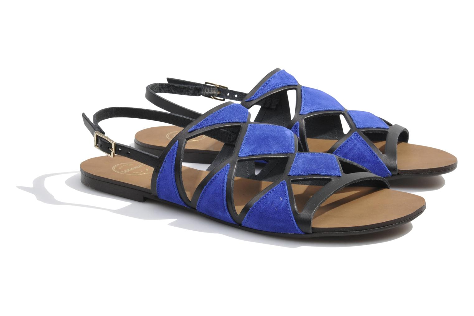 Sandals Made by SARENZA Nairobi #1 Blue back view