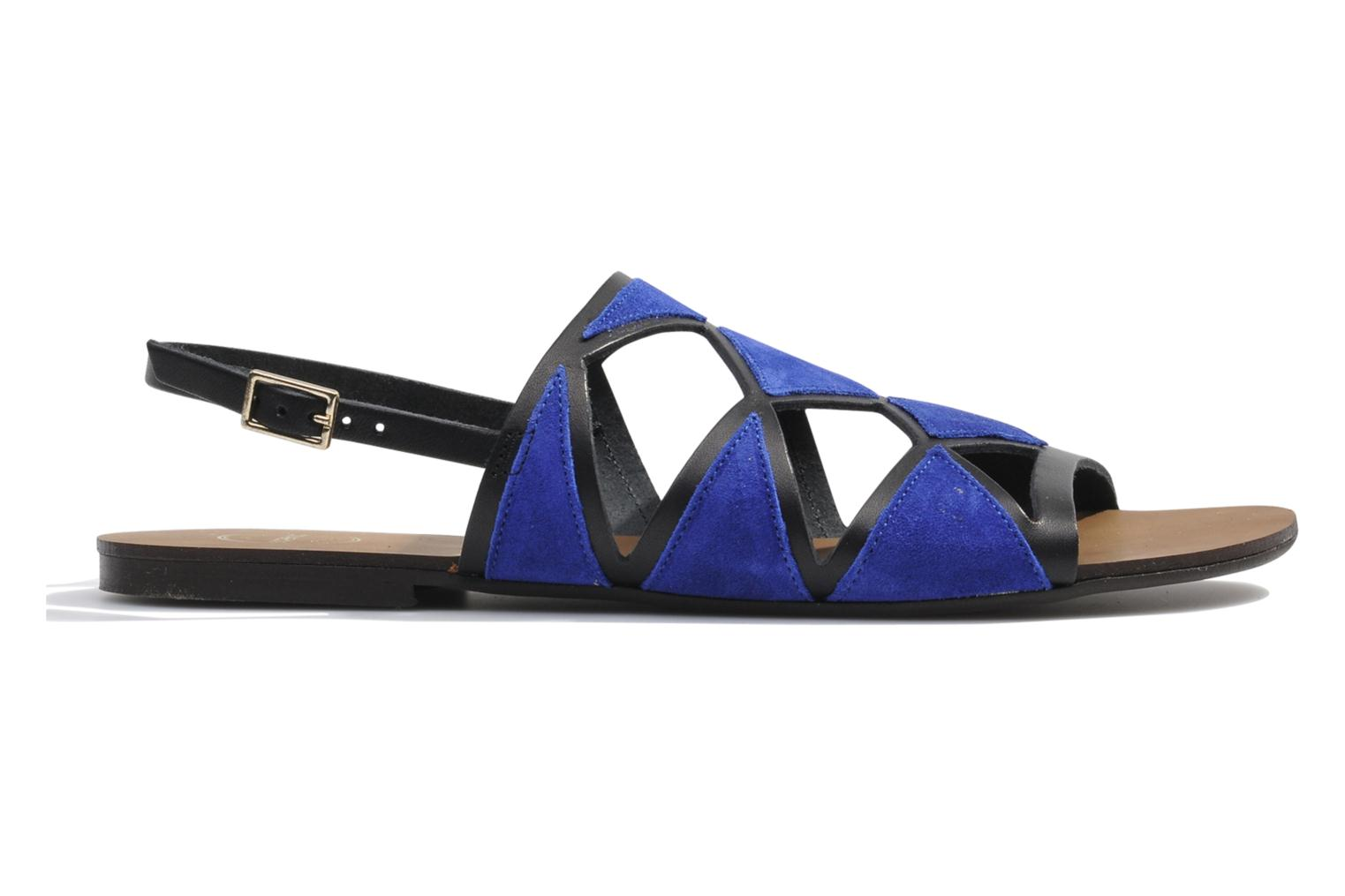 Sandals Made by SARENZA Nairobi #1 Blue detailed view/ Pair view