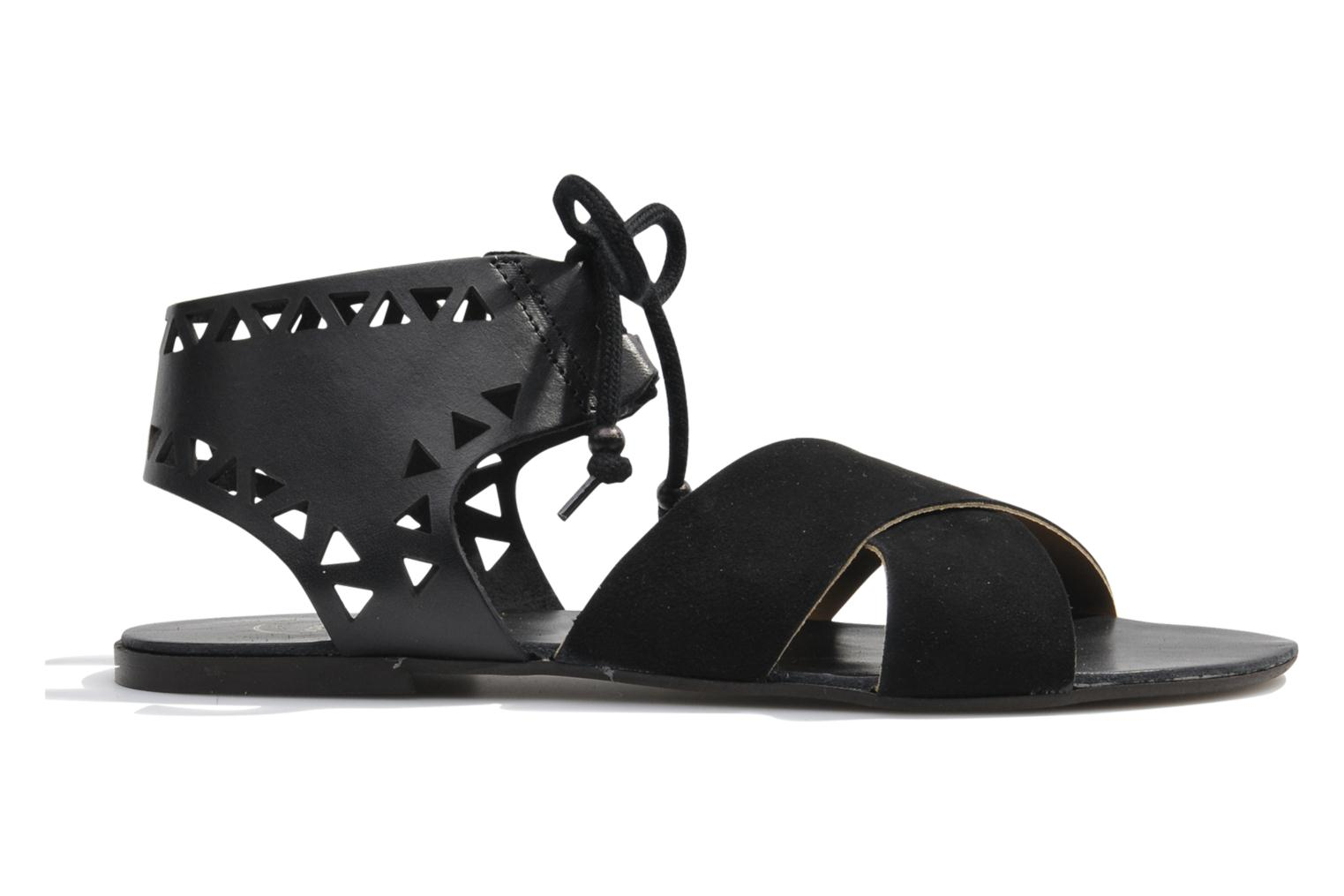 Sandals Made by SARENZA Nairobi #2 Black detailed view/ Pair view