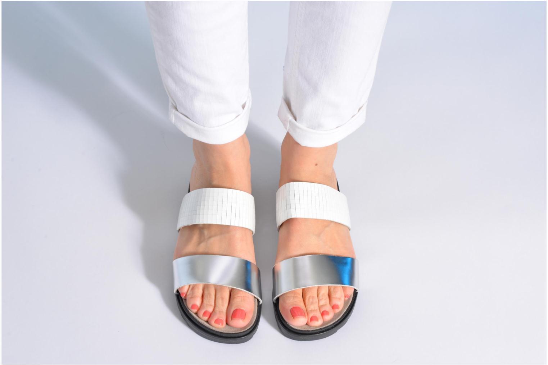 Clogs & Pantoletten Made by SARENZA Ping Pong #4 silber ansicht von unten / tasche getragen